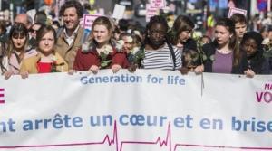 La « Marche pour la vie » contre l'avortement a rassemblé quelque 1.500 participants